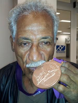 Touro Moreno, bronze Yamaguchi Falcão, Londres 2012 (Foto: Bruno Marques/Globoesporte.com)