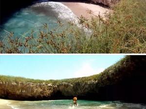 Praia escondida no México (Foto: Puerto Vallarta Day Tours/Divulgação)