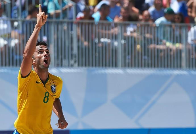 Bruno Xavier é o capitão da seleção brasileira de futebol de areia (Foto: Divulgação / BSWW)