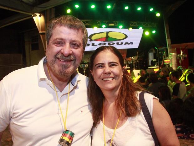 Flávio Galvão e Mayara Magri em show em Salvador, na Bahia (Foto: Edgar de Souza/ Divulgação)