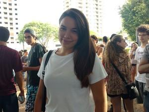 Letícia Pereira teve mais dificuldade em matemática (Foto: Carol Malandrino/G1)