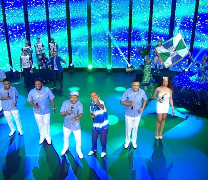 Unidos de Vila Maria na gravação da vinheta de Carnaval 2016 (Foto: Divulgação TV Globo)