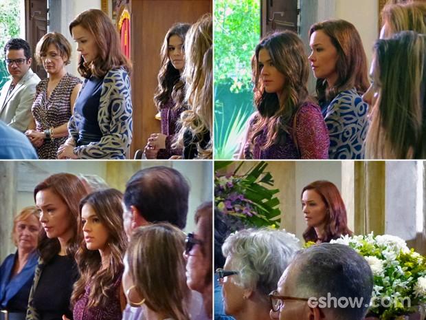 Helena tenta fazer Luiza ficar mais contida em sua curiosidade (Foto: Em Família/TV Globo)