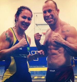 Cris Cyborg e Wanderlei Silva (Foto: Reprodução / Instagram)