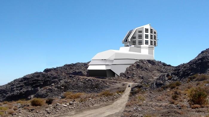 Ilustração mostra como ficará o telescópio LSST, que será construído em montanha do Chile (Foto: Reprodução/LSST)