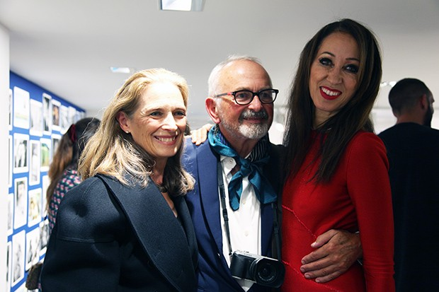 Arthur Elgort at his exhibition opening in Paris with his wife, the theatre and opera director Grethe Barrett Holby (Foto: COLETTE)