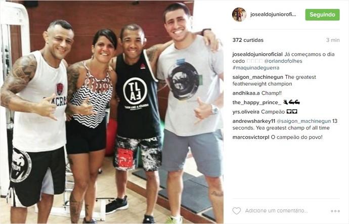 José Aldo instagram (Foto: Reprodução/Instagram)