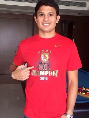 Elkeson conquista prêmio de melhor jogador da China (Foto: Divulgação)