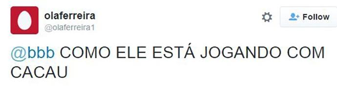 post sobre matheus bbb16 (Foto: TV Globo)