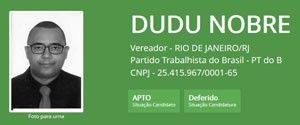 Ficha de Dudu Nobre no TSE (Foto: Reprodução/TSE)