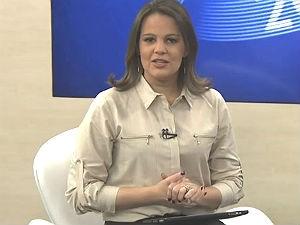 Gilka Mafra na apresentação do ALTV 1ª Edição (Foto: Reprodução/ TV Gazeta)