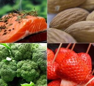 Brócolis, salmão, amêndoas e morango são opções (Foto: Mais Você / TV Globo)