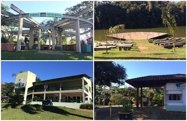 Parte das obras que já foram executadas no Jardim Botânico, em Goiânia (Foto: Paula Resende/ G1)
