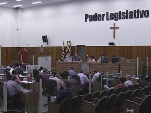 Votação foi remanejada para sessão de quinta-feira (Foto: Reprodução/TV TEM)