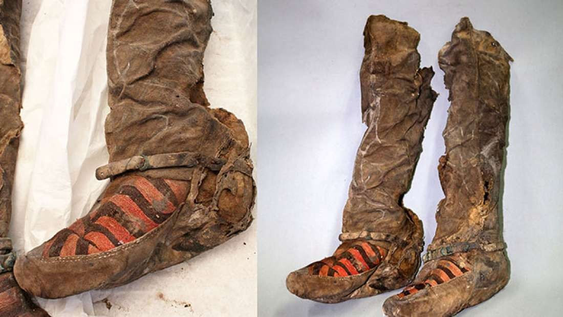 """Arqueólogos restauram múmia de 1.100 anos que usava """"par de tênis"""""""