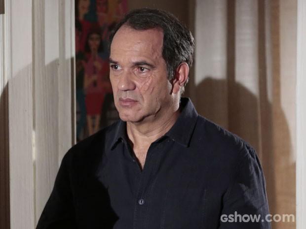 Humberto em cena como Virgílio, com a cicatriz no rosto (Foto: Felipe Monteiro/TV Globo)