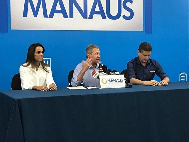 Coletiva de imprensa foi realizada na tarde desta terça-feira (Foto: Patrick Marques/G1 AM)