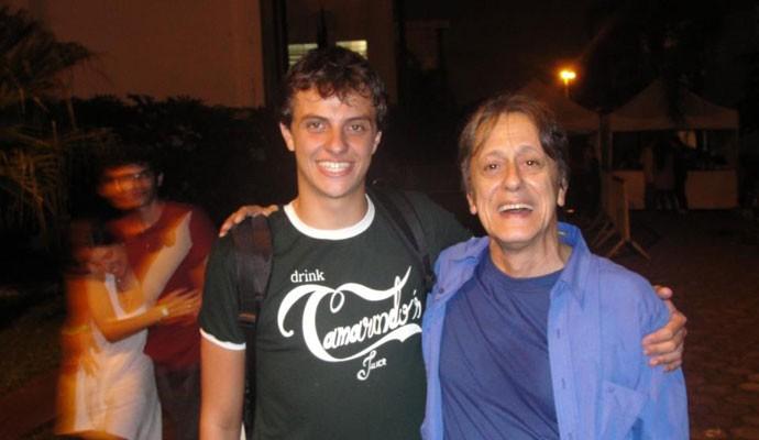 Yves Barberio Mariano e Nelson Machado, dublador do Quico