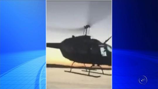 Vídeos mostram rasantes de avião e helicóptero sobre lancha no rio Tietê