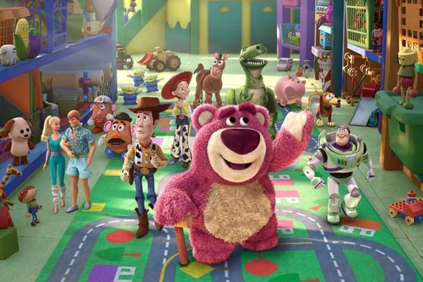 Buzz Lightyear, Jessie e o Sr. Cabeça de Batata acabam em uma creche com outros brinquedos em 'Toy Story 3' (Foto: Divulgação)
