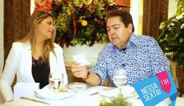 Maria entrevista Faustão (Foto: Reprodução/Instagram)