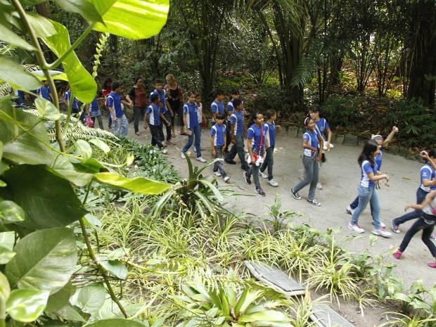 Crianças de escolas públicas e particulares de Belém participaram do primeiro dia da programação (Foto: Divulgação/Comus)