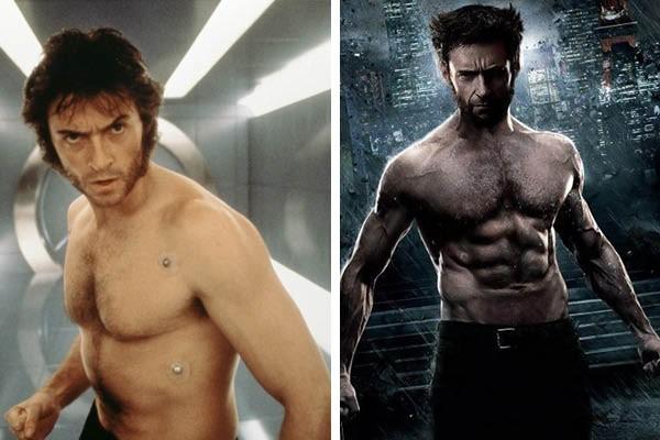 Hugh Jackman no primeiro 'X-Men' e 'Wolverine' (Foto: Reprodução//Divulgação)