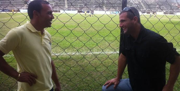 Fábio Noronha esteve no Mamudão e assinou um pré-contrato com o Democrata GV na tarde desta terça-feira. (Foto: Diego Souza/Globoesporte.com)