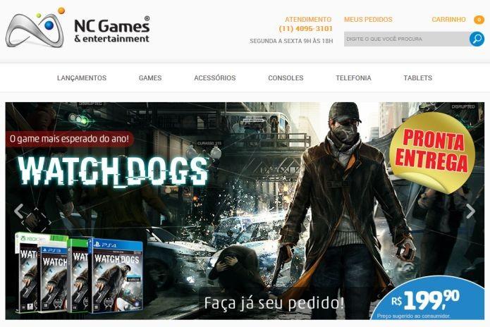 Watch Dogs à venda na NC Games: Preço salgado, mas com pronta entrega (Foto: Reprodução/Pedro Zambarda)