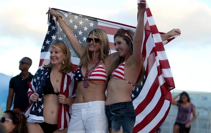 Gatas fifa fan fest EUA x Portugal (Foto: EFE)