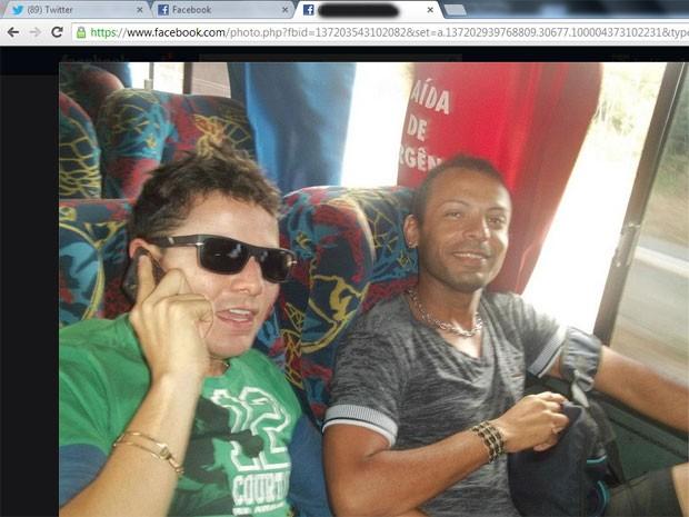 Washington Vieira (de verde) é apontado pela polícia do RN como mandante do crime (Foto: Reprodução/Facebook)