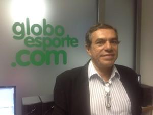 Presidente esteve na Redação do GloboEsporte.com na manhã desta segunda-feira (Foto: Luís Filipe Pereira/GloboEsporte.com)