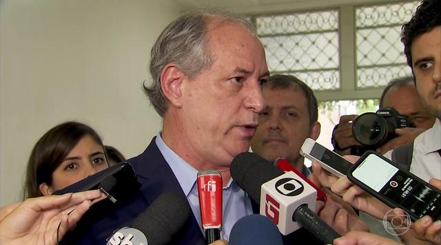 Ciro Gomes participa de debate em São Paulo nesta terça-feira (18)