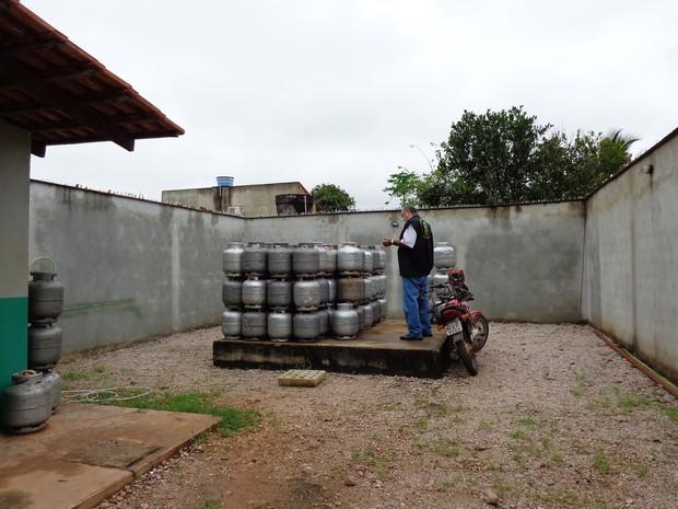 Revendas de gás de cozinha passaram por vistoria no Tocantins (Foto: Divulgação/MPE)
