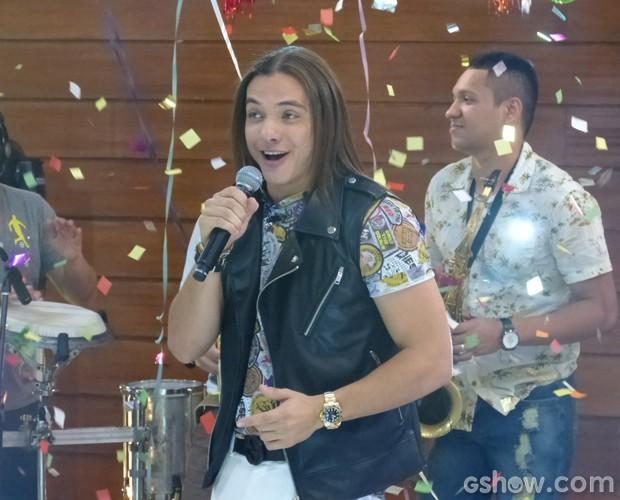 Wesley Safadão agita o Mais Você (Foto: Mais Você / TV Globo)