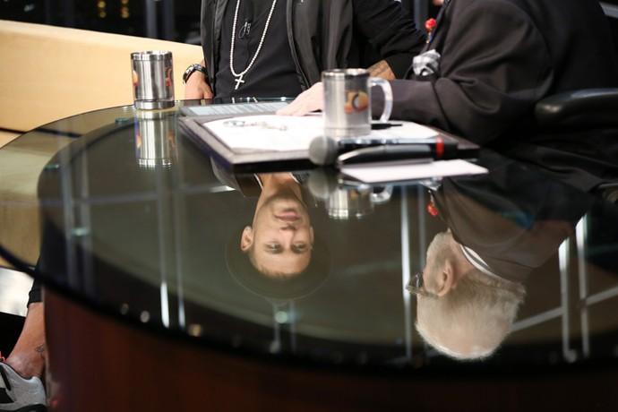 Jô Soares entrevista o craque Neymar no 'Programa do Jô' (Foto: Carol Caminha/Gshow)