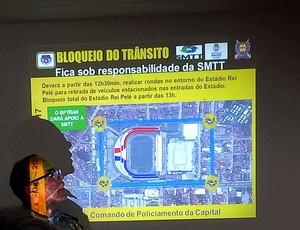 Esquema de sergurança - CSA x CRB (Foto: Viviane Leão/GloboEsporte.com)