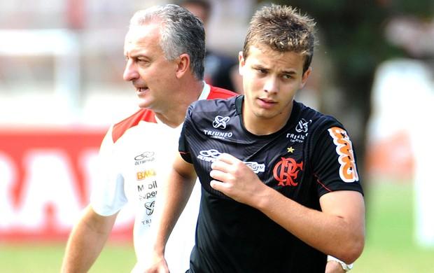 Thomás e Dorival Junior no treino do Flamengo (Foto: Alexandre Vidal / Fla Imagem)