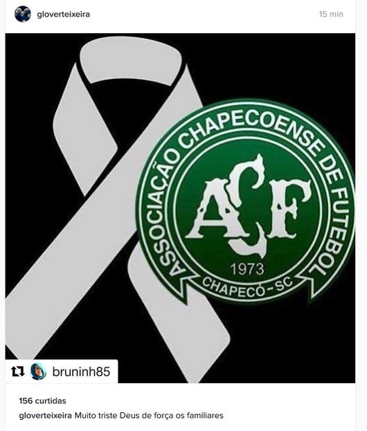 Glover Teixeira Chapecoense (Foto: Reprodução / Instagram)