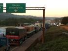 PRF em Minas Gerais ganha reforço durante paralisação de caminhoneiros