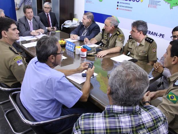 Reunião Detran sobre padronização de trânsito na greve (Foto: Divulgação)