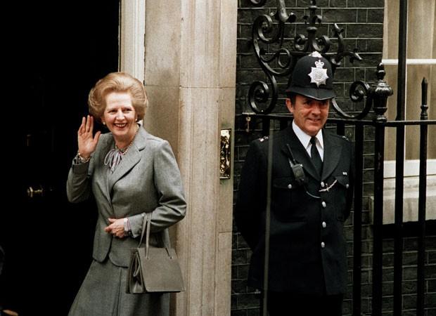 Margaret Thatcher em foto de maio de 1987 (Foto: Arquivo/Dennis Redman/AP)