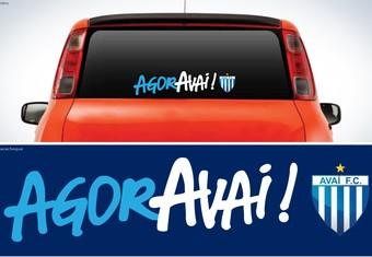 AgorAvaí campanha Avaí adesivo (Foto: Reprodução)