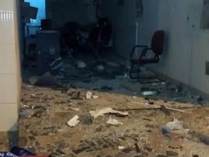 Explosão a banco em Córrego Fundo (Foto: Polícia Militar/ Divulgação)
