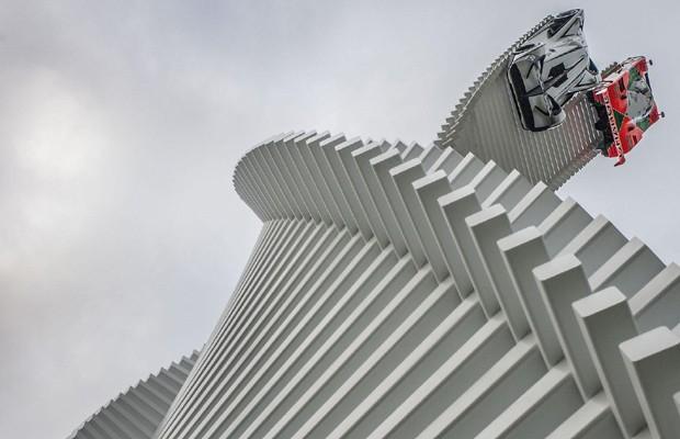 Mazda apresenta escultura durante o Festival de Goodwood (Foto: Divulgação)