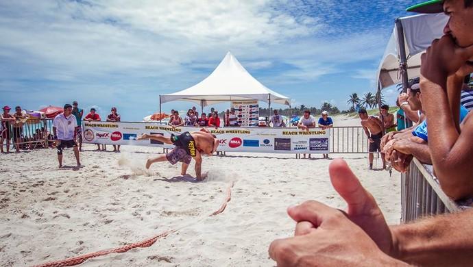 Beach wrestling al  (Foto: Rita Moura)