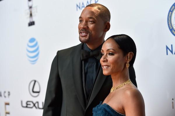 O ator Will Smith e sua esposa, a atriz Jada Pinkett Smith (Foto: Getty Images)