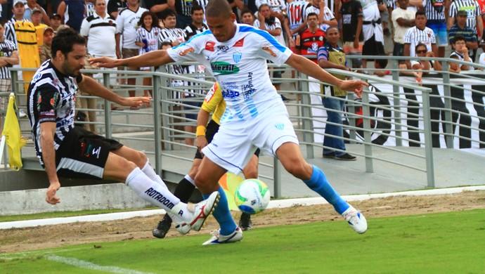 Botafogo-PB x Crac, Frontini, atacante do Botafogo-PB (Foto: Rizemberg Felipe/Jornal da Paraíba)
