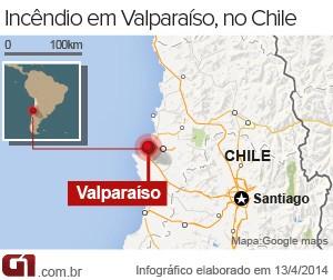 Valparaíso (Foto: Editoria de Arte/G1)