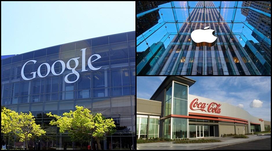 Apple, Google e Coca-Cola: empresas são exemplos de marcas de sucesso (Foto: Reprodução)